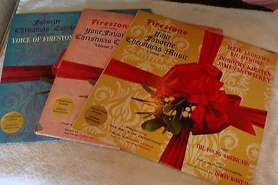 3 vintage firestone collectible christmas albums julie andrews
