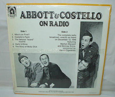 Abbott Costello Who S On First Sketches Comedy