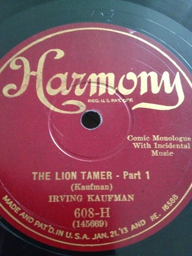 Irving-kaufman-78rpm-the-lion-tamer-pt-1-2-comedy-harmony-608-h_951795