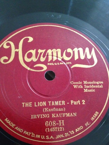 Irving-kaufman-78rpm-the-lion-tamer-pt-1-2-comedy-harmony-608-h_951796