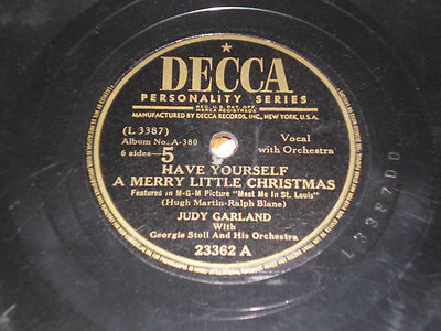 judy garland 78rpm have yourself a merry little - Have Yourself A Merry Little Christmas Judy Garland