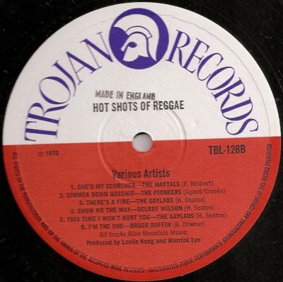 Various Hot Shots Reggae Chartbusters 71