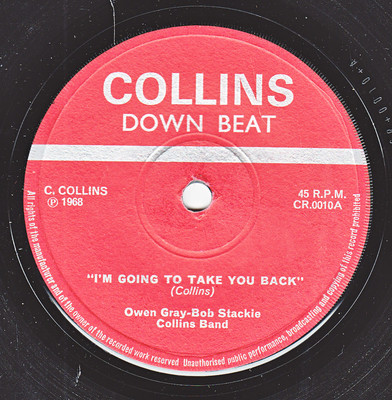 Glen Addams Collins Band Owen Gray Collins Band Cool Cool Rock Steady Girl I Will Be Leaving