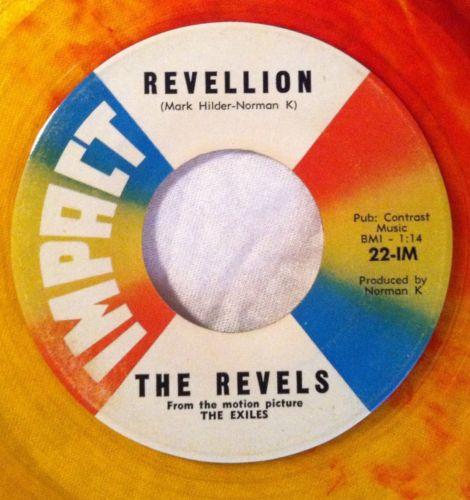 Revels-revillion-conga-twist-impact-7-yellow-red-swirl-colored-vinyl-record-45_5126977