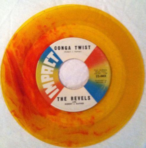 Revels-revillion-conga-twist-impact-7-yellow-red-swirl-colored-vinyl-record-45_5127007