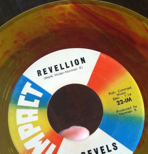 Revels-revillion-conga-twist-impact-7-yellow-red-swirl-colored-vinyl-record-45_5127029