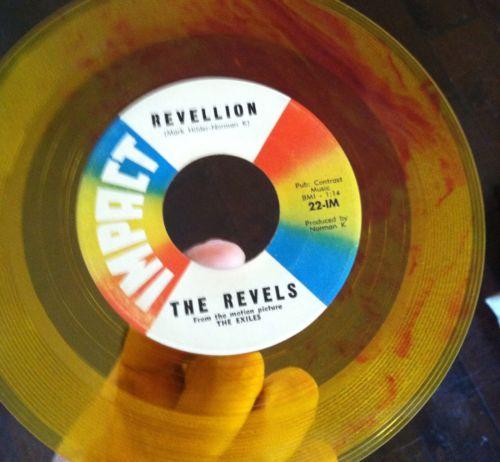 Revels-revillion-conga-twist-impact-7-yellow-red-swirl-colored-vinyl-record-45_5127038