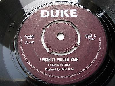 Techniques-i-wish-it-would-rain-7-1968-rare-duke-vg-listen_11739454