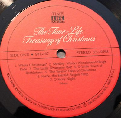 The Time Life Treasury Of Christmas.Roots Vinyl Guide