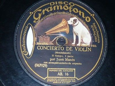 Discographical sources for 78 RPM recordings