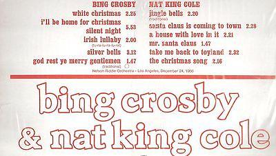 white christmas album 1956 bing crosby nat king - Bing Crosby White Christmas Album